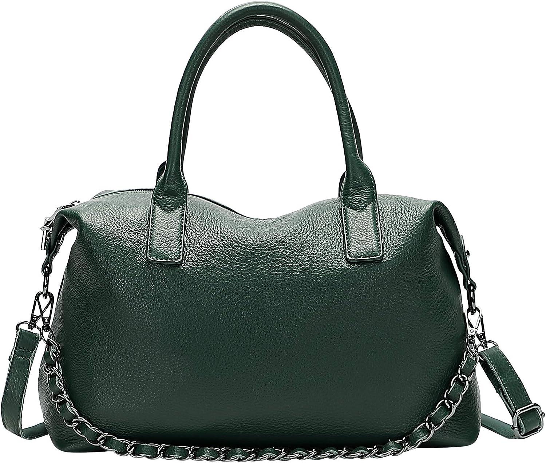 CHERISH NEW before selling ☆ KISS Womens Soft Leather Genuine Bag Tote Shoulder Handbags Bags