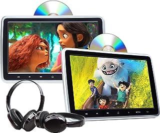 Eonon 2021 Newest 10.1 Inch DVD Player Dual Screen Car Headrest DVD Player Universal Vehicle Headrest Monitor Portable DVD...