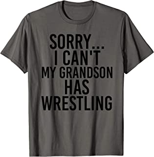 Grandpa Grandma | My Grandson Has Wrestling T-Shirt