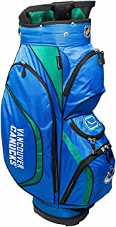Team Golf NHL Clubhouse Golf Cart Bag, Lightweight, 8-way Top with Integrated Handle, 6 Zippered Pockets, Padded Strap, Towel Ring, Umbrella Holder & Removable Rain Hood