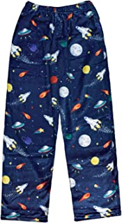 iscream Big Boys Silky Soft Plush Fleece Pants - Out of This World Collection