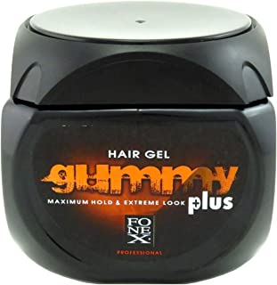 Gummy Hair Gel Maximum Hold Extreme Look Plus 23.5 Ounce (700ml) (6 Pack)