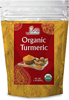 Organic Turmeric Root Powder 2 lb Bag with Curcumin & Non-GMO - Tested for Heavy Metals - by Jiva Organics (32 oz)