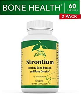 Terry Naturally Strontium (2 Pack) - 680 mg, 60 Vegan Capsules - Essential Mineral Supplement, Supports Bone Strength & Density - Non-GMO, Gluten-Free, Kosher - 60 Total Servings