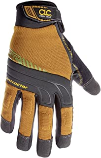 CLC Custom Leathercraft 160L Contractor XtraCoverage Flex Grip Work Gloves, Durable Synthetic Leather, Padded Knuckles