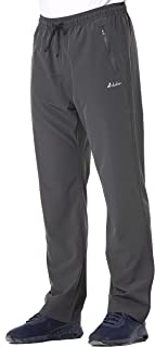 Clothin 's Outdoor Quick Dry Light Weight Pants Stretch No Iron Travel Comfortable Sweats Pants - Elastic-Waist with Drawstring - Cool & Breathable - 2 Front Zipper Security Pockets @ Regular Fit