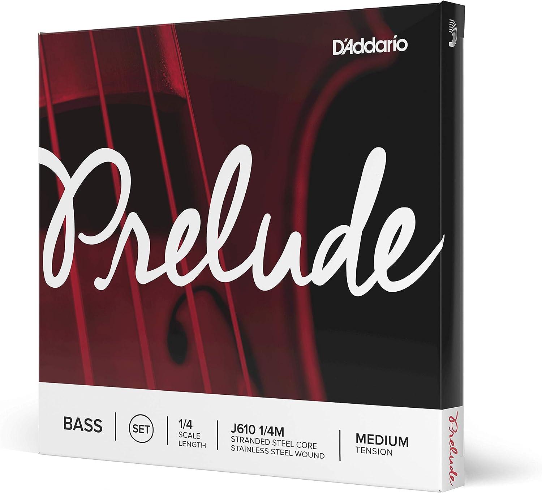 D'Addario Prelude Bass String Set Scale Max 40% Philadelphia Mall OFF Tension Medium 1 4