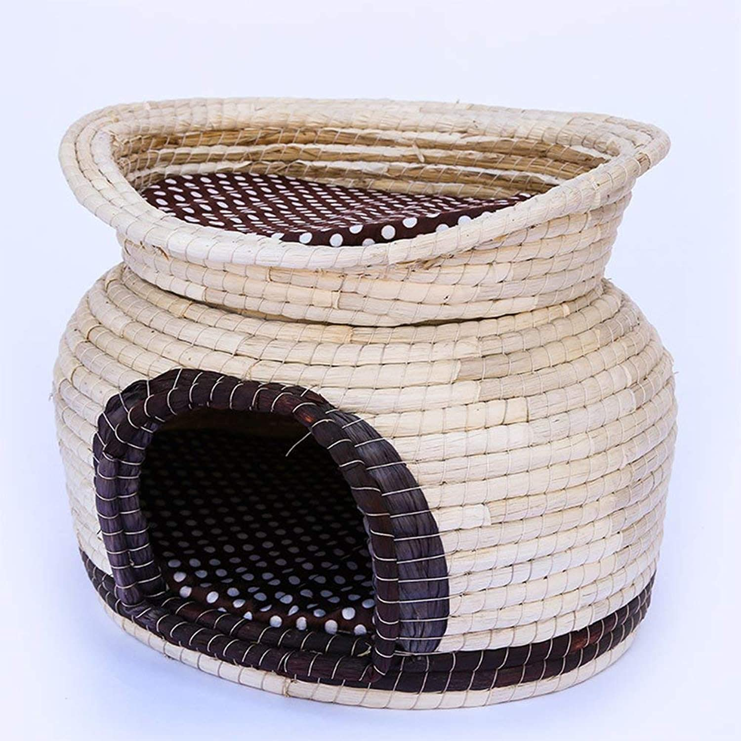 Cat Bed HandWoven Double Washable Warm Breathable All Seasons Pet Supplies