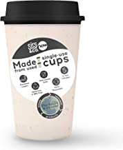 Circular&Co. NOW- World's First Reusable Coffee Cup Made from Recycled Paper Cups, Cosmic Black (12oz)