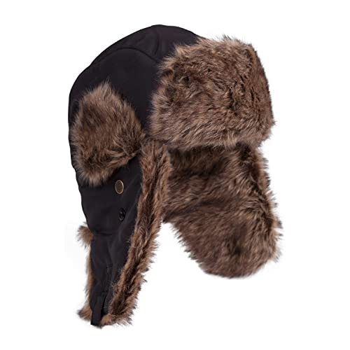 bc30f4e1a4f Mountain Warehouse Furry Unisex Hat - Padded Faux Fur Lining for Extra  Warmth With Chin Strap
