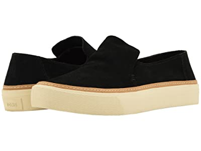 TOMS Sunset (Black Suede) Women