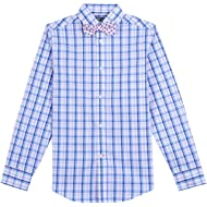 Tommy Hilfiger Boys' Long Sleeve Dress Shirt with Bow Tie