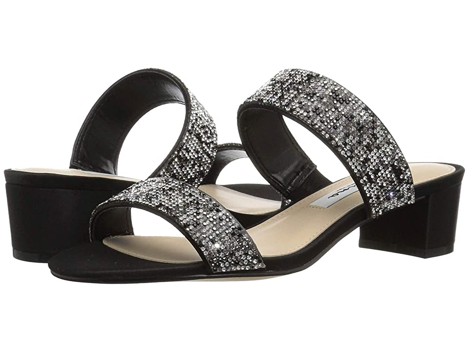 Nina Georgea 2 (Black Luster Satin/Multi Stones) Women