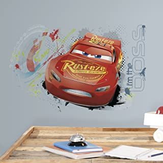 RoomMates Disney Pixar Cars 3 Lightning Mcqueen Peel And Stick Wall Graphic