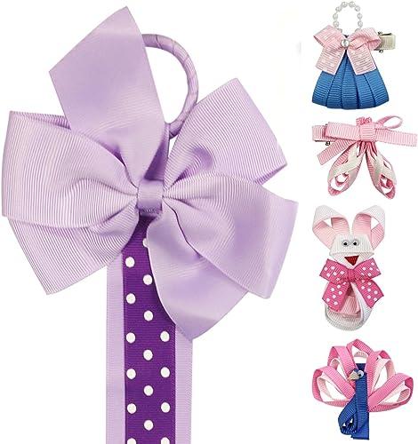 Centro comercial profesional integrado en línea. Wrapables Ribbon Sculpture Sculpture Sculpture Hair Clips with Polka Dots Hair Clip Holder, púrpura  gran venta