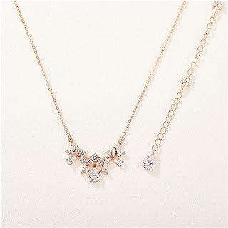 Details about  /Rose Gold Pendant Earrings Set Bridal Wedding Pendant Set Anniversary Gift Her