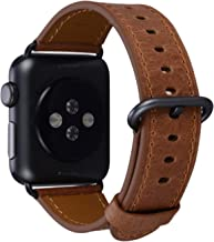PEAK ZHANG Compatible with Apple Watch Band 38mm/40mm 42mm/44mm Genuine Leather Replacement Strap Compatible iWatch Series 4 3 2 1 Men Women