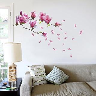 Walplus Wandsticker-Dekoration, große Blüten am Magnolienb