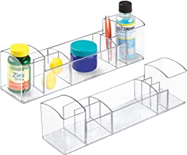"""iDesign Med+ 12"""" Vanity, Multi-Level Medication and Bathroom Accessory Organization, 12 Inch-Clear, Pack of 2"""