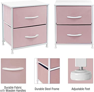Sorbus Nightstand with 2 Drawers - Bedside Furniture & Accent End Table Chest for Home, Bedroom Accessories, Office, Coll
