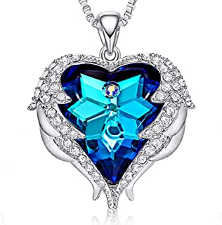 SNOWH Sterling Silver Pendant Necklace Made with Swarovski Crystals Jewelry for Women