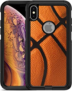 Teleskins Protective Designer Vinyl Skin Decals/Stickers for Otterbox Commuter iPhone Xs Max Case -Basketball Design Patterns - only Skins and not Case