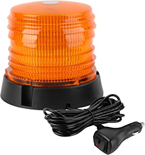 ASPL LED Warning Flash Beacon Lights, 60 LED Amber Warning Safety Flashing Strobe Lights with Magnetic and 16 ft Straight ...