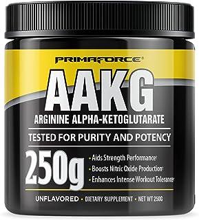 PrimaForce AAKG Arginine Powder, 250 grams (L-Arginine and Alpha-Ketoglutarate Acid) Premium Workout Supplement, Non-GMO, ...