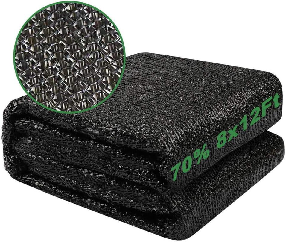 Charlotte Sale item Mall vensovo 70% Sunblock Shade Cloth Net G 8x12 - Ft Black Resistant