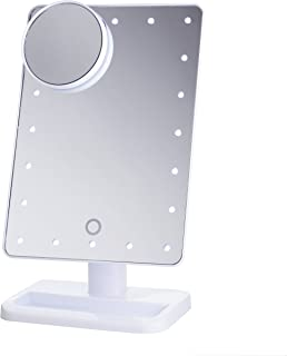 white light up mirror