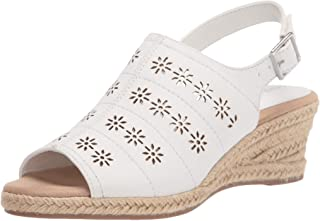 Easy Street Women Sandal,White,9 XW US