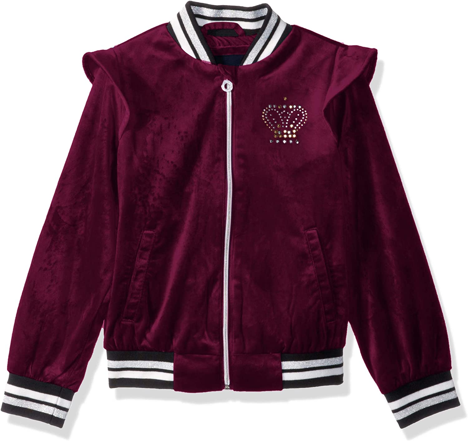 Limited Too Girls Crown Velour Bomber Jacket