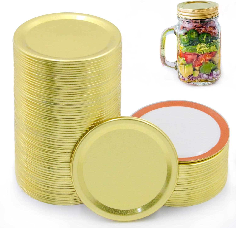 100 Pcs Canning Lids Regular Product Mouth Mason Max 74% OFF R Split-Type Jar