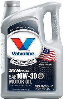 Valvoline SynPower 10W-30 Full Synthetic Motor Oil - 5qt (Case of 3) (787002-3PK)