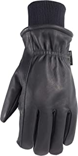 Men's Insulated Leather Water-Resistant Winter Work Gloves, Large (Wells Lamont 1202LK)
