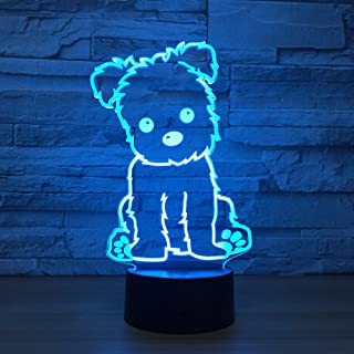 Puppy Dog Toys 3D Optical Desk Lamp Night Light LED Lamp 7 Colors Change Table Light for Home Decoration Household Accesso...