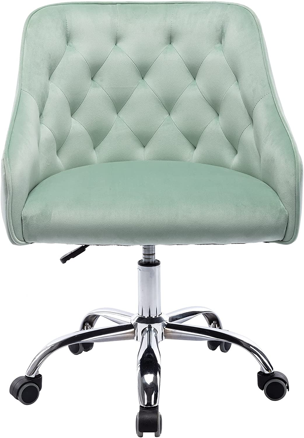 gift Goujxcy Home Office Chair Weekly update Velvet Mode Metal Base with Desk