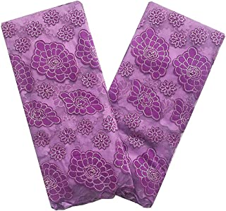 LadyQ Latest African Velvet Laces 2019 Blue Mesh Net French Lace Fabric Nigerian Beaded African Sequin Lace Fabric 5 Yards 610LD (Lilac)