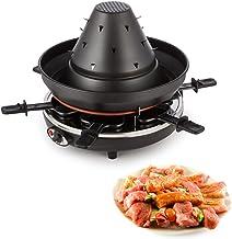 Klarstein Taste Volcano - Raclette, Grill de table, électrique, Chapeau tartare, 1500 W, réglable en continu, grillade, gr...