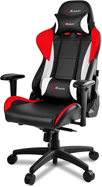 Arozzi Verona Pro V2 Premium Racing Style Gaming Chair With High Backrest Recliner Swivel Tilt Rocker And Seat Height Adjustment Lumbar And Headrest Pillows Included Red