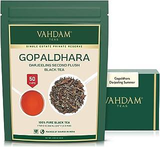 VAHDAM, Gopaldhara Exotisch Darjeeling Zweiter Flush Schwarzer Tee 2020 | 3.53Oz, 100g | 100% unvermischt Darjeeling-Schwarztee | erstklassig Lose-Blatt-Tee | Einzelimmobilien-Tee | Brauen 50 Tassen