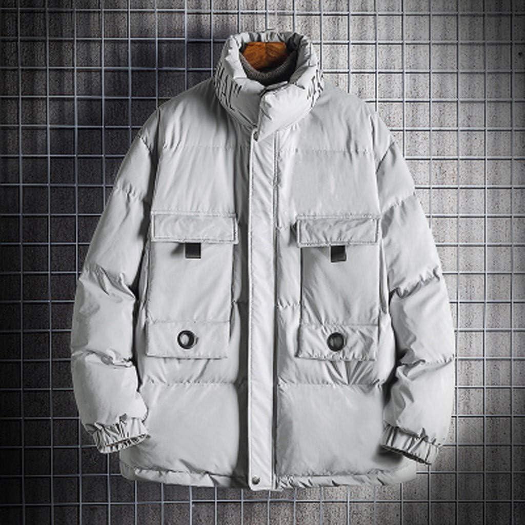 Men's Down Winter Warm Coat Zipper Long Sleeve Jacket Windproof Outwear