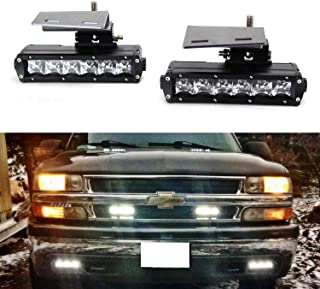 iJDMTOY LED Light Bar Fog Lamps Kit For 99-02 Chevrolet...