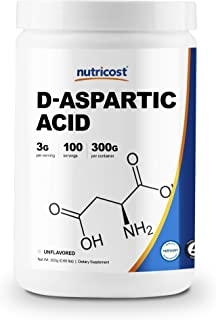 Nutricost D-Aspartic Acid (DAA) Powder 300G - Pure D Aspartic Acid