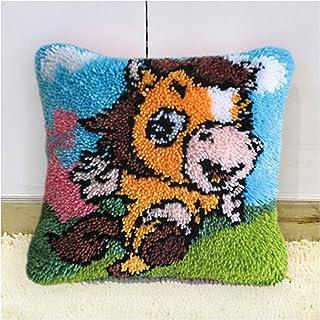 Kits Crochets pour Adultes avec Fil, Kids Loquet Kits Crochets pour Débutants, Bricolage Canapé Coussin Couvercle Crochet ...