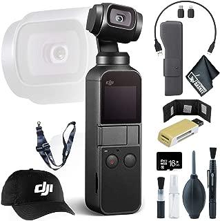 DJI Osmo Pocket Gimbal + USB Card Reader, SD/microSD + 16GB microSD Memory Card + Baseball Cap & Lanyard and More