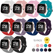 Gymu Fitbit Versa Bands,Fitbit Versa Bands for Women Men Small Large, Replacement Accessory Breathable Bracelet Strap with Secure Metal Buckle for Fitbit Versa Smartwatch