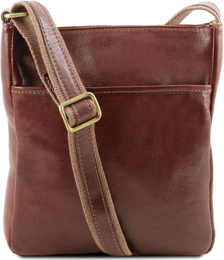 Tuscany leather jason borsello a tracolla da uomo in pelle marrone 1300_1_1