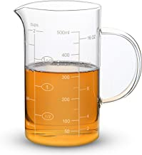 Clopare Glass Measuring Cup with Measurements, 2-Cup, High Borosilicate Clear Measuring Cups with Insulated handle, 16oz, ...