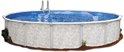 Embassy Pool 4-3216 PARA101 Above Ground Swimming Pool, 32-Feet by 16-Feet by 52-Inch, Silver Tone
